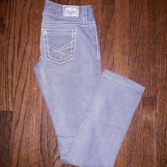 Maurices Denim - Maurices gray straight leg jeans sz 5/6